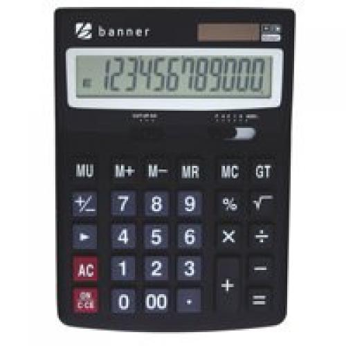 Desktop Calculator 12 Digit Dual Powered